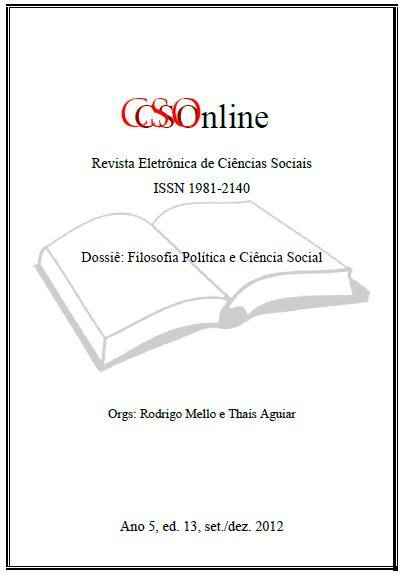 Visualizar n. 14 (2012): Dossiê: Filosofia Política e Ciência Social