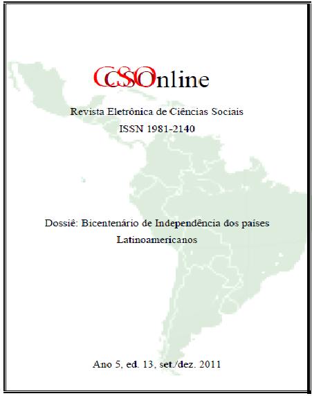 Visualizar n. 13 (2011): Dossiê: Bicentenário dos países Latinoamericanos