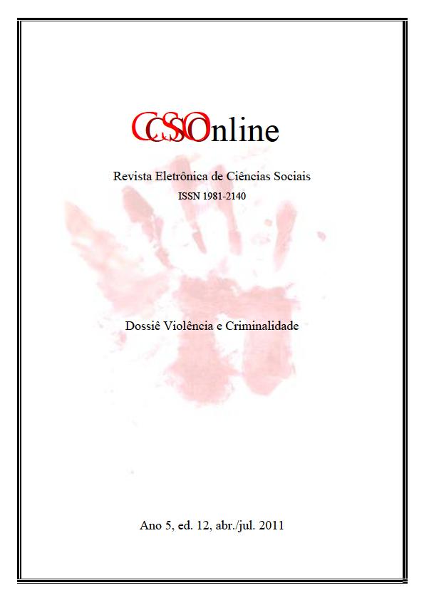 Visualizar n. 12 (2011): Dossiê: Criminalidade e Violência