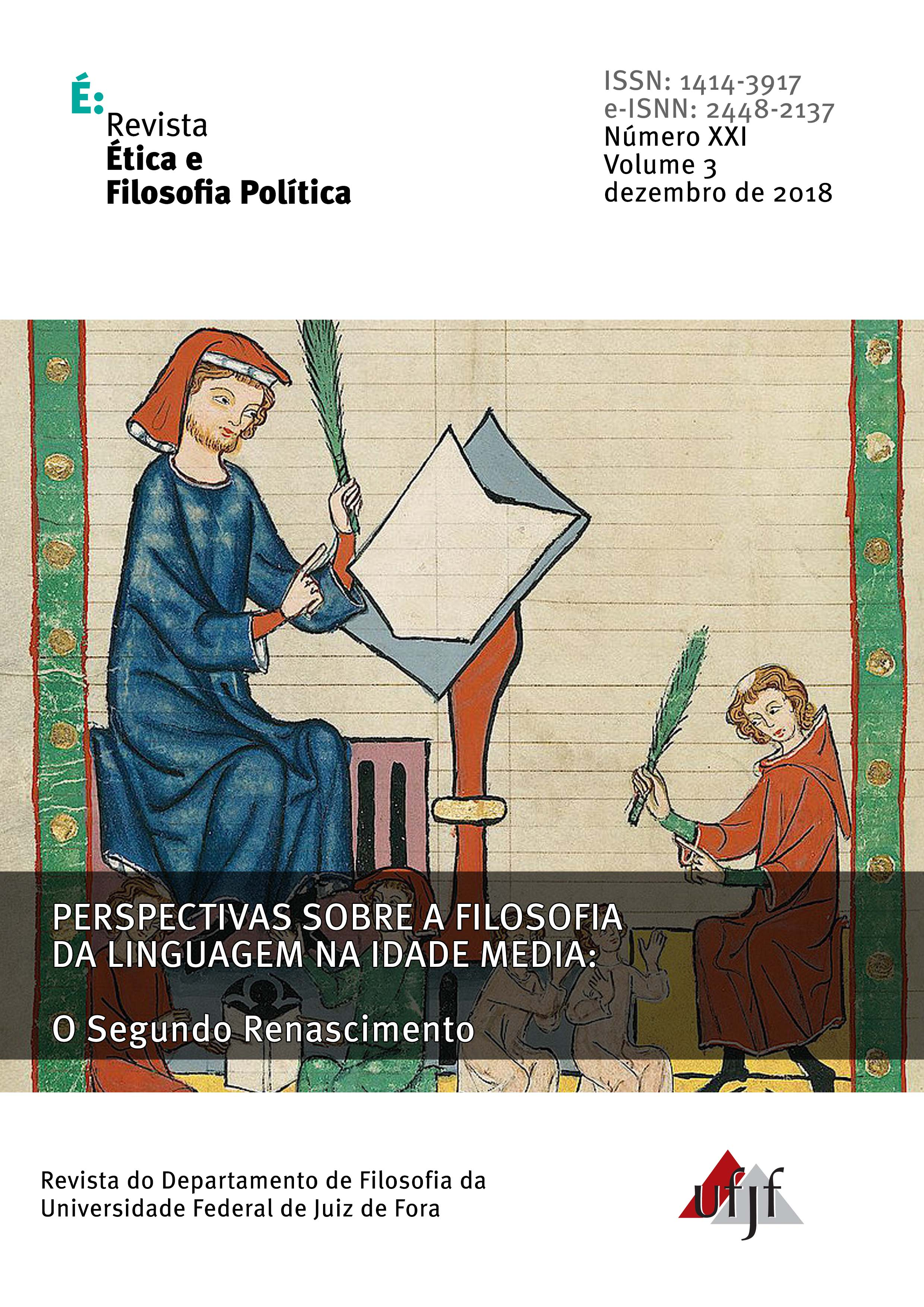 Visualizar v. 3 n. 21 (2018): Perspectivas sobre a Filosofia da Linguagem na Idade Média - II