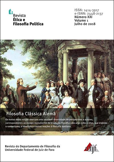 Visualizar v. 1 n. 21 (2018): Filosofia Clássica Alemã