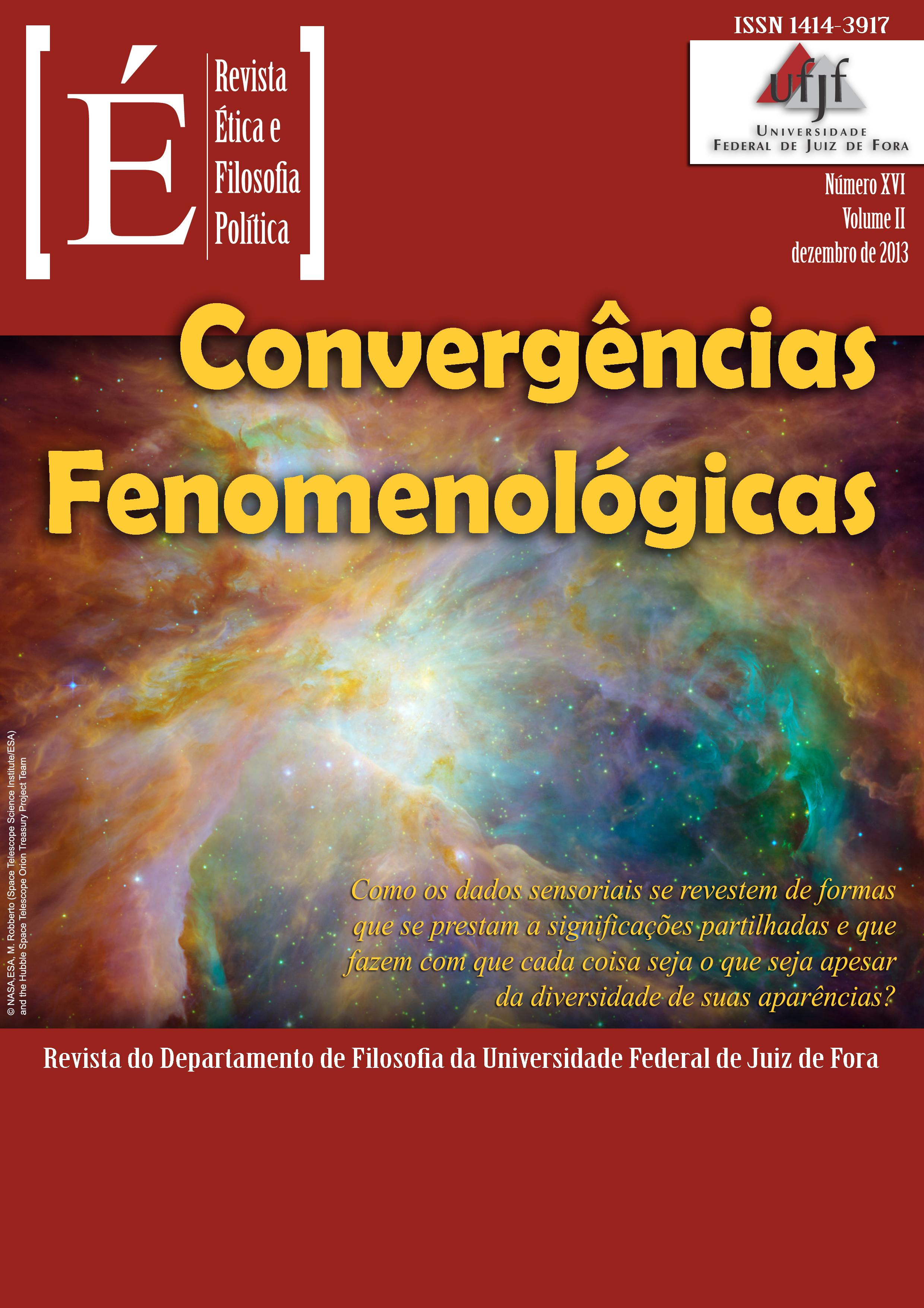 Visualizar v. 2 n. 16 (2013): Convergências Fenomenológicas