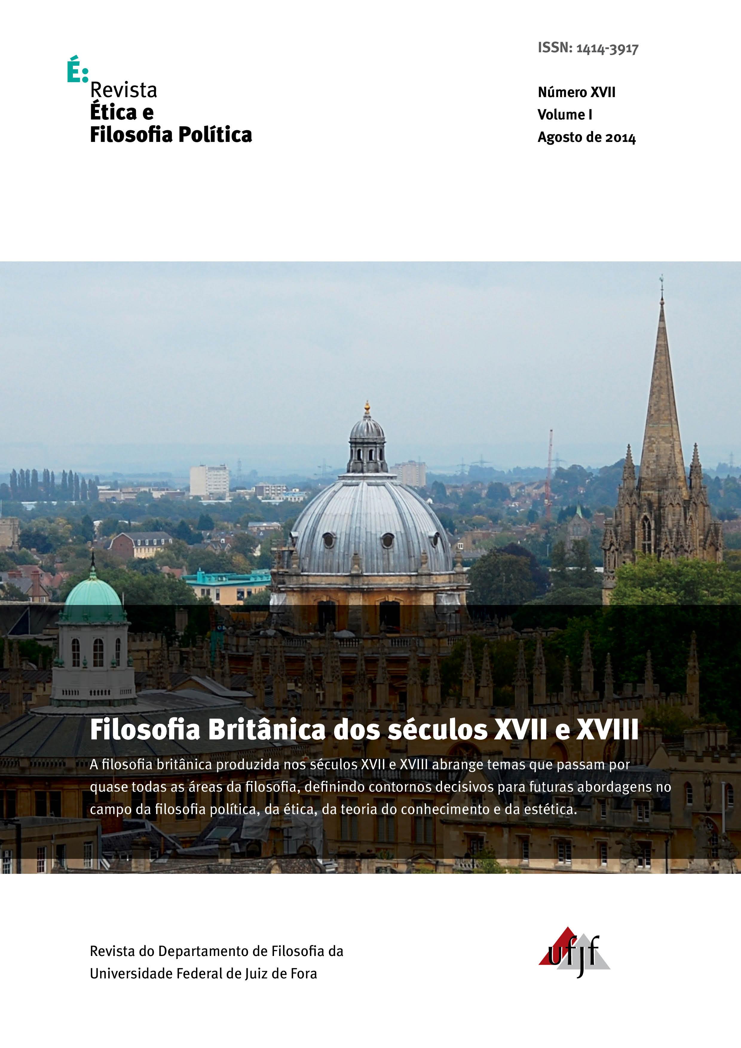 Visualizar v. 1 n. 17 (2014): Filosofia Britânica dos séculos XVII e XVIII