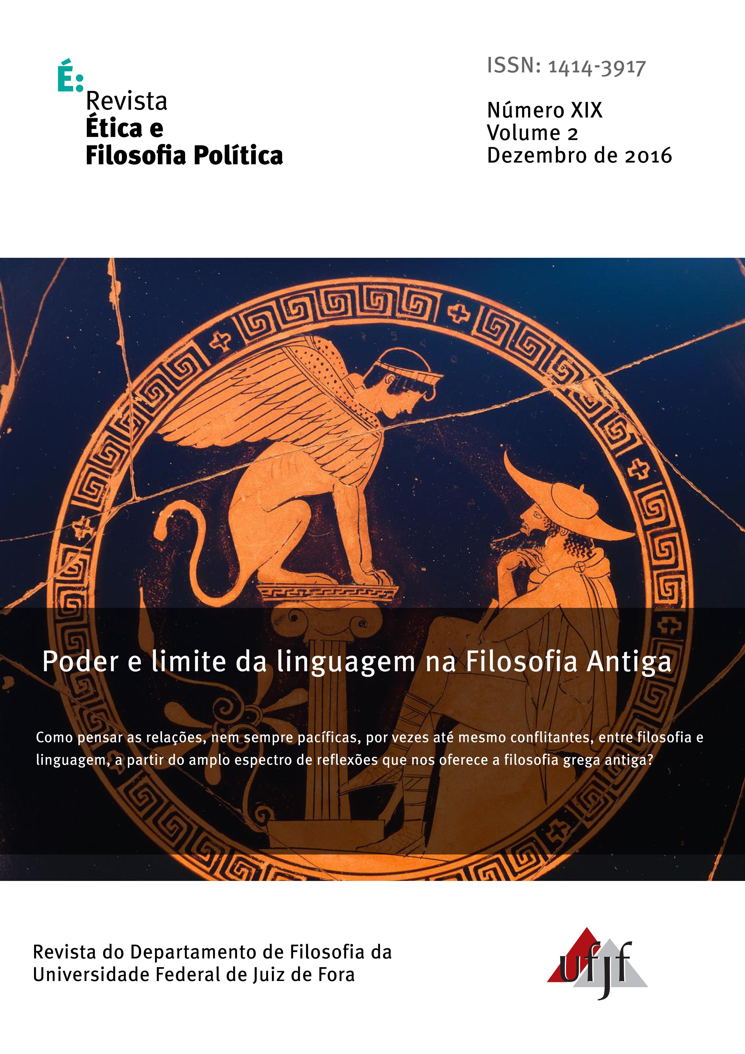 Visualizar v. 2 n. 19 (2016): Poder e limite da linguagem na Filosofia Antiga