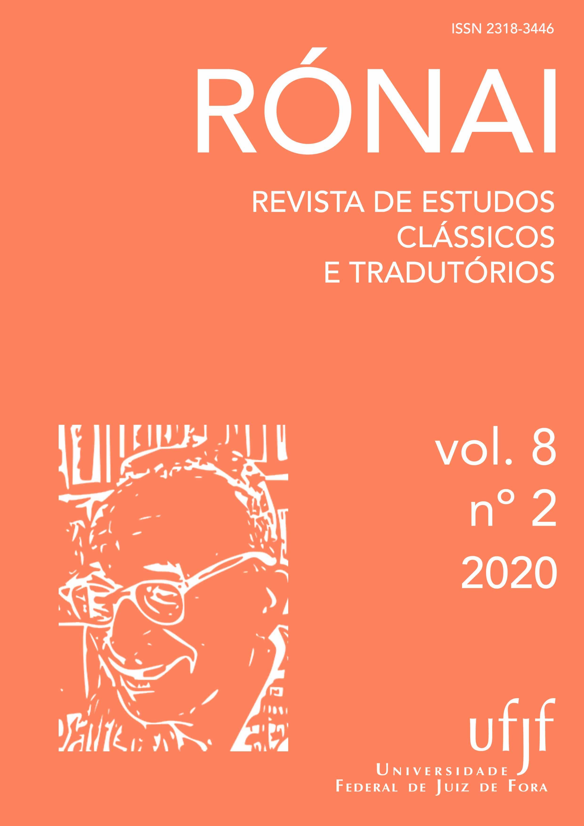 Visualizar v. 8 n. 2 (2020): Rónai: Revista de Estudos Clássicos e Tradutórios