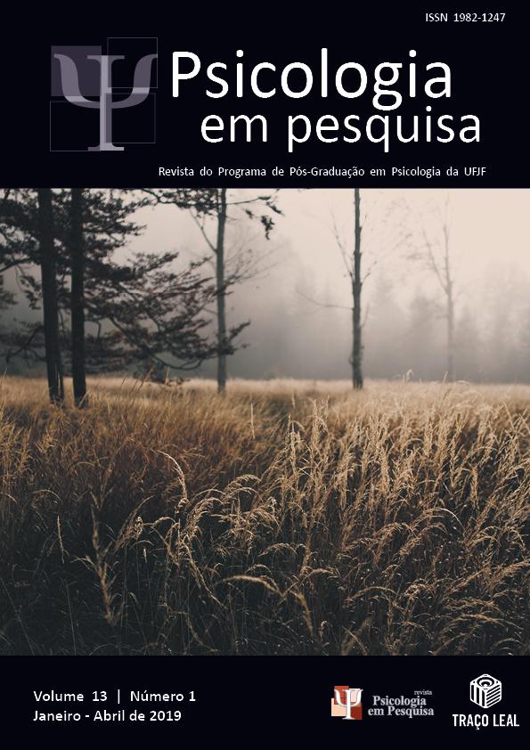 Psicologia em Pesquisa - Revista do Programa de Pós-Graduação em Psicologia da UFJF - Volume 13, Nº 1