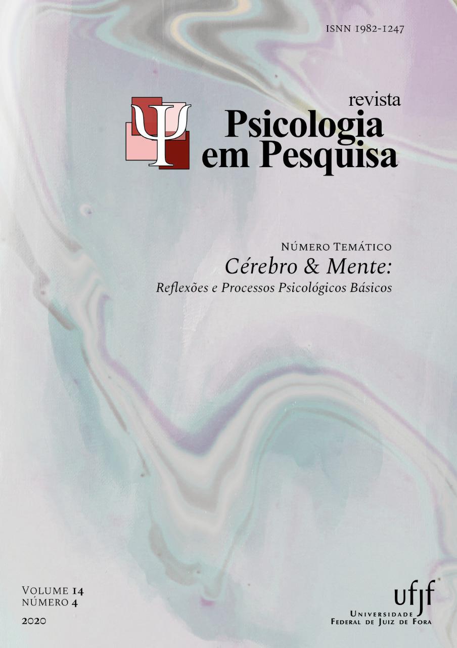 Visualizar v. 14 n. 4 (2020): Número Temático Cérebro & Mente: Reflexões e Processos Psicológicos Básicos