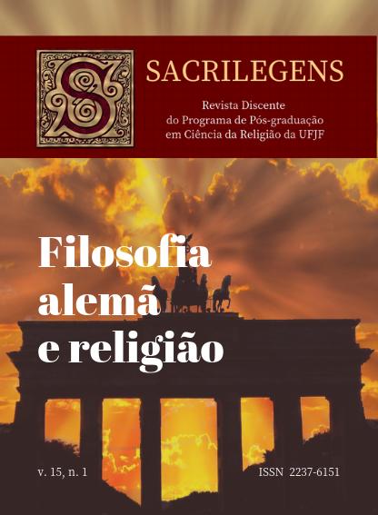 Visualizar v. 15 n. 1 (2018): Janeiro a Junho de 2018 - Dossiê Filosofia Clássica Alemã e Religião