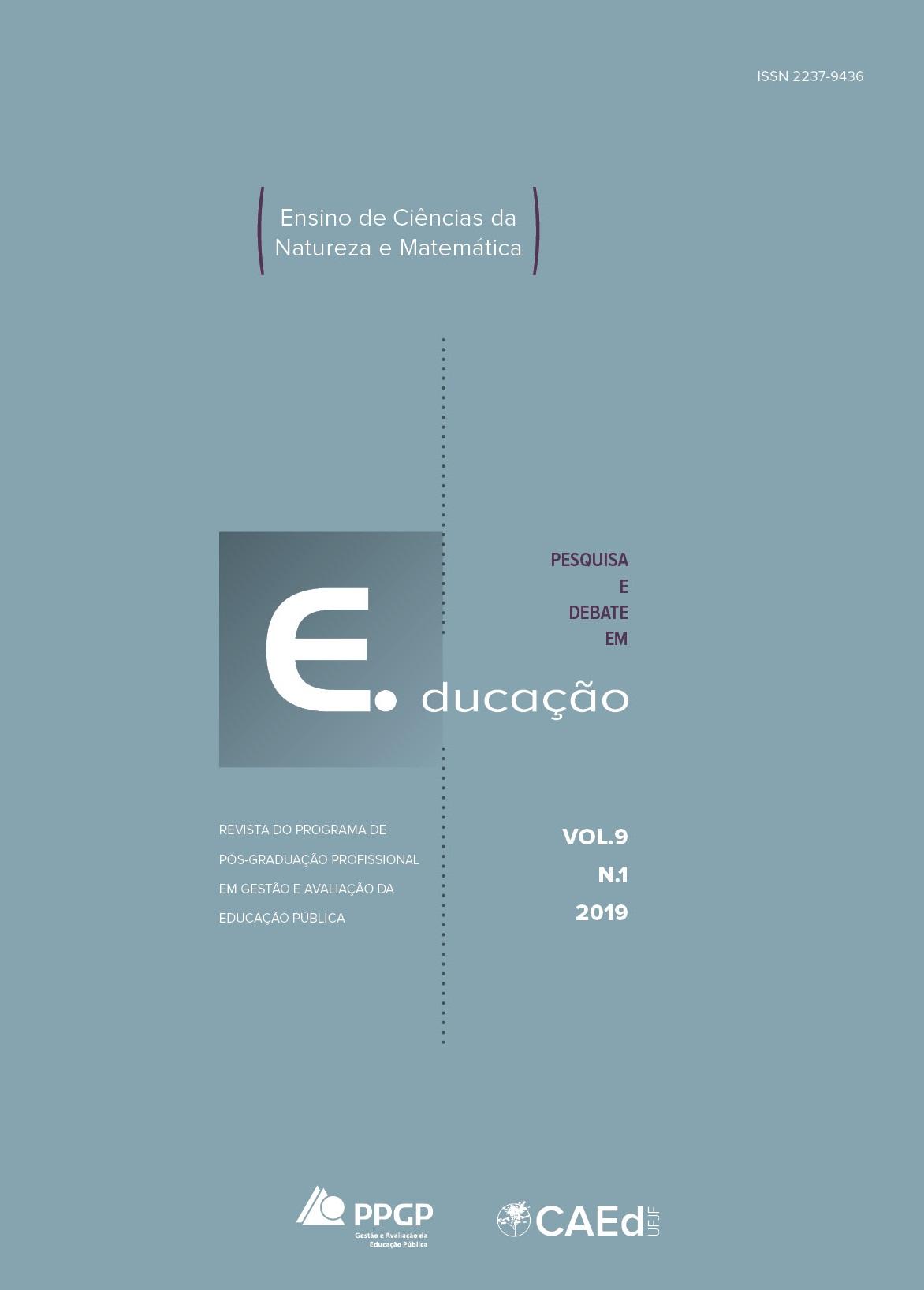 Visualizar v. 9 n. 1 (2019): Dossiê ensino de ciências da natureza e matemática (continuação)