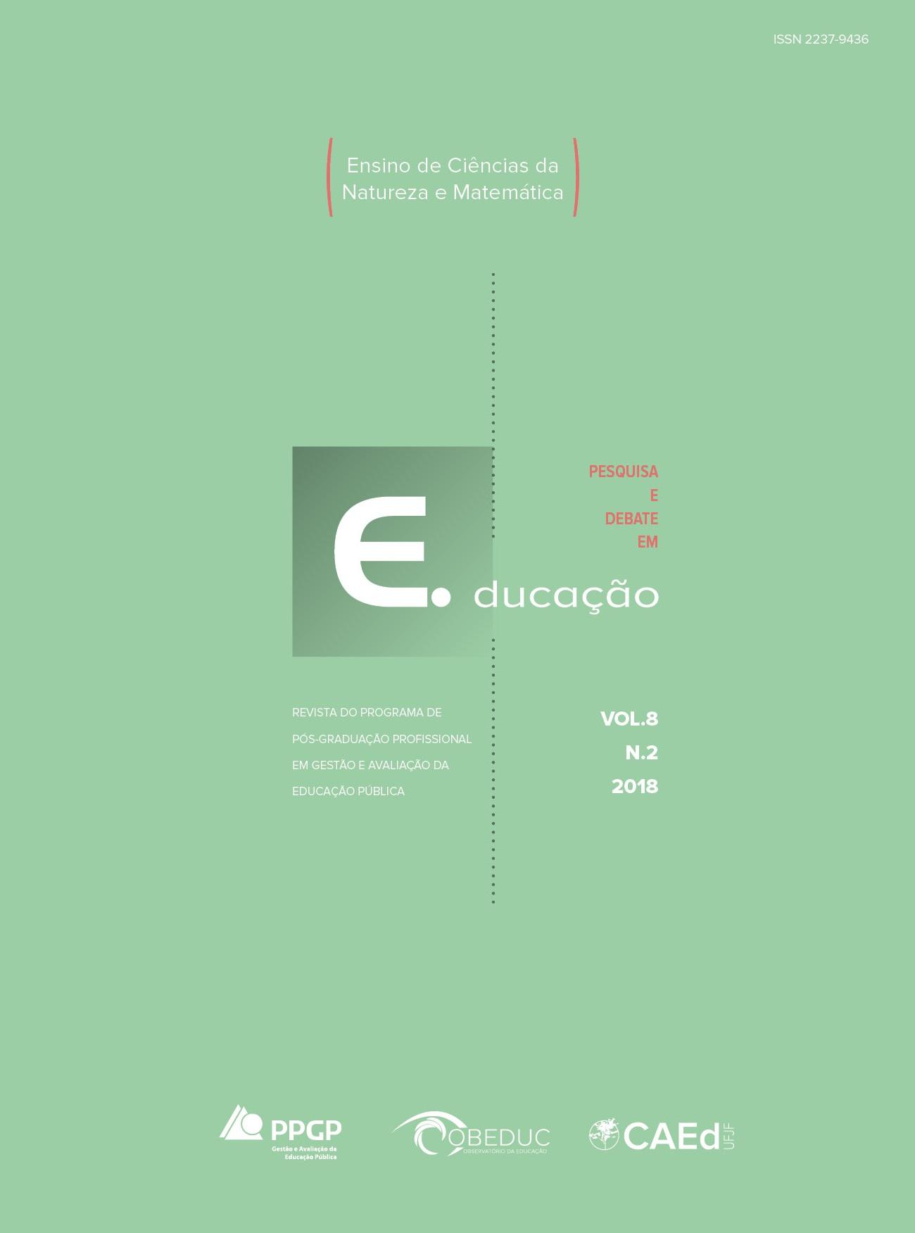 Visualizar v. 8 n. 2 (2018): Dossiê ensino de ciências da natureza e matemática