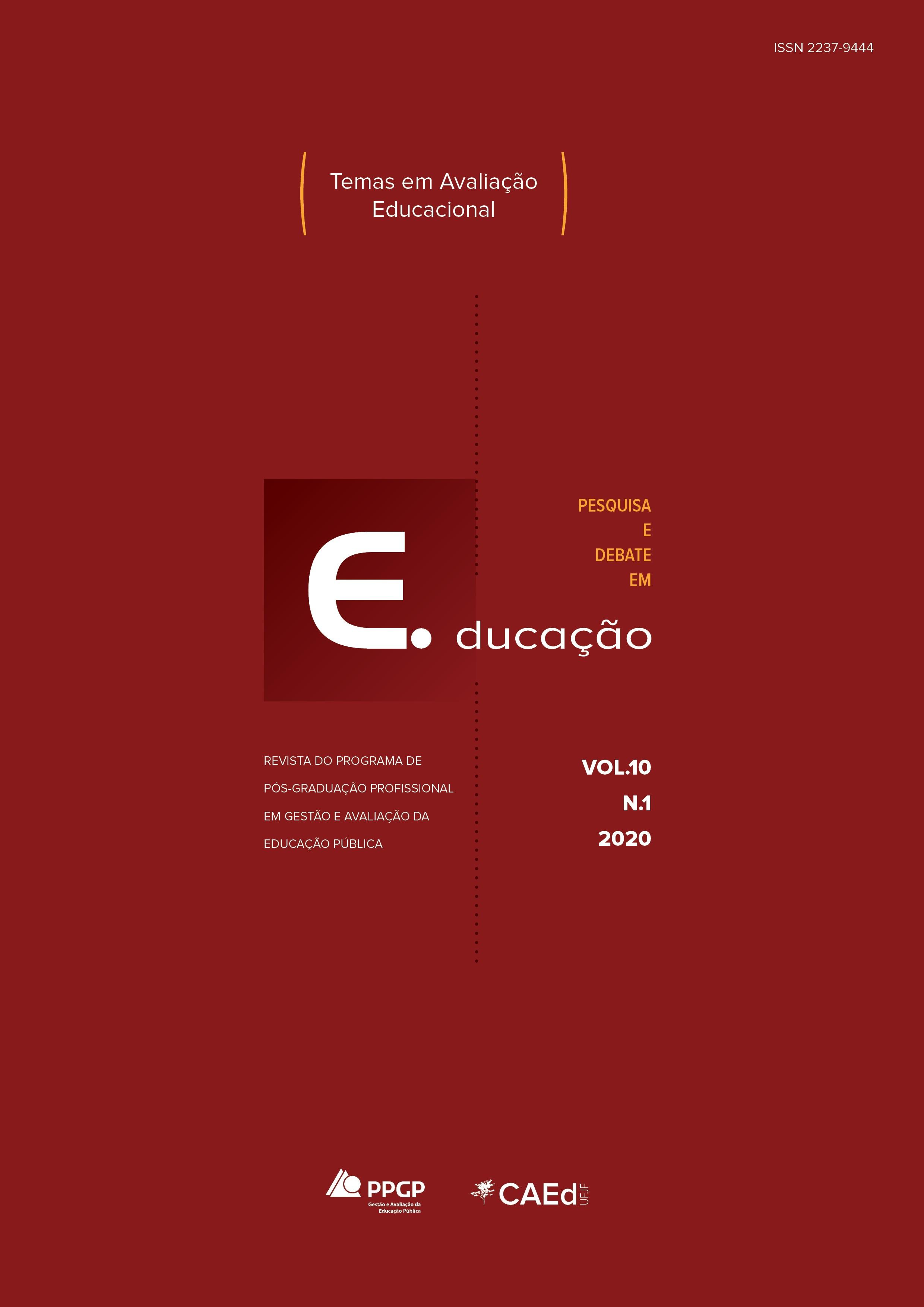 Visualizar v. 10 n. 1 (2020): Temas em avaliação educacional